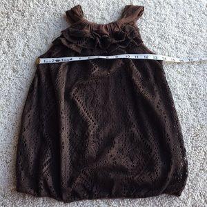 Ella Moss Halter Top.   Brown.   Size XS